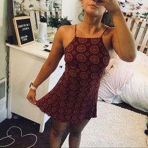 Brandy Melville Red Print Dress